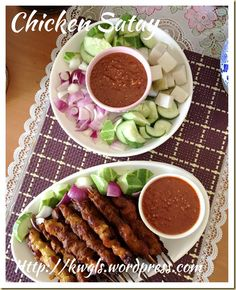 "can cook!: ""Tut-tut-Satay!"" Singapore Chicken Satay with Peanut Sau..."
