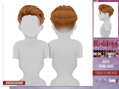Coupure Electrique Anto`s Puma hair retextured kids and toddlers version is part of children Hairstyles The Sims 4 - Coupure Electrique's Anto`s Puma hair retextured kids and toddlers version Short hairstyles ~ Sims 4 Hairs Sims Four, The Sims 4 Pc, Sims 4 Cas, Sims 2, Sims 4 Toddler Clothes, Sims 4 Mods Clothes, Sims 4 Clothing, Boy Toddler, Sims 4 Hair Male