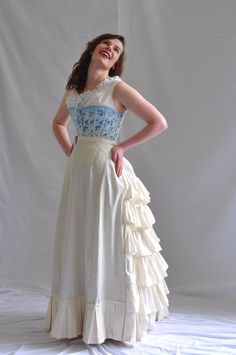 I adore old-fashioned underclothes. They add layers in the winter and look amazingly feminine. 1890s Fashion, Victorian Fashion, Vintage Fashion, Edwardian Gowns, Fancy Dress Ball, Bustle Dress, Period Outfit, Costume Collection, Vintage Couture
