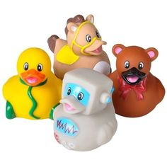 4 Count Classic Toy Style Rubber Ducks New 2 inches Tall Toy Prank Gag | eBay
