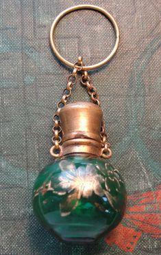 Antique Victorian Chatelaine Perfume Bottle