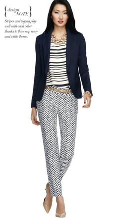 Todays Coveted Working Look: Chevron Print Ankle Pants