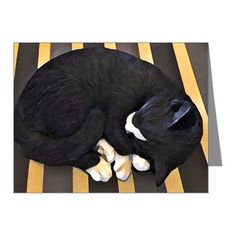 Black and White Cat Note Cards on CafePress.com