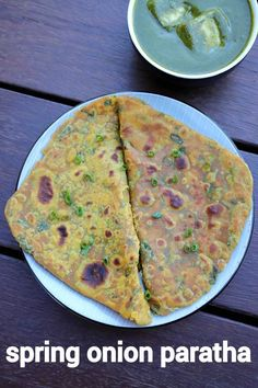 spring onion paratha recipe, hare pyaz ka paratha, green onion paratha with step by step photo/video. flavoured paratha with spring onion & wheat flour. Sweets Recipes, Indian Food Recipes, Vegetarian Recipes, Cooking Recipes, Bread Recipes, Snack Recipes, Snacks, Spring Onion Recipes, Indian Flat Bread