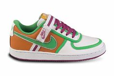 "Hot Trend: Colorful Sneakers: Nike ""Vandal Low"" in White/Orange Blaze/Bright Fuchsia/Light Green, $67.99"