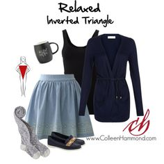 Relaxed Inverted Triangle by colleen-hammond on Polyvore featuring Monsoon, Theory, Chicwish, Sebago and Printable Wisdom