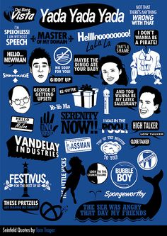 "Seinfeld. Love this :) they're missing our fave George quote though- ""No way wine is better than Pepsi!"""