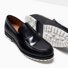 ZARA - COLLECTION SS15 - LEATHER MOCCASINS WITH RUBBER SOLE