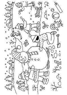 28 meilleures images du tableau coloriages vacances d 39 hiver coloring pages snowball et - Dessin bonhomme a colorier ...