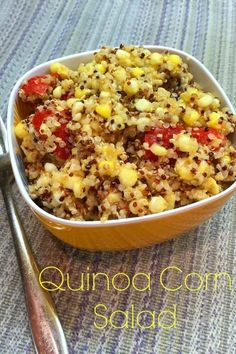 Food Network Magazine's Quinoa Corn Salad recipe that is easy to make and perfect for summer. Healthy too!