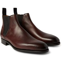 Edward Green - Camden Burnished-Leather Chelsea Boots