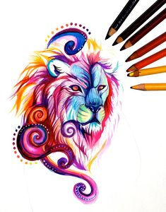 Lion Design by Lucky978.deviantart.com on @DeviantArt