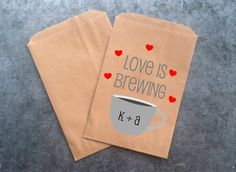 Kraft Brown Bag for Coffee Wedding Favor by prettypaperparlor.... does matt still make his own coffee beans?