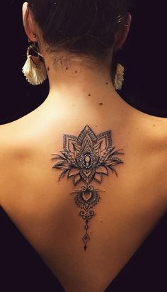 Gorgeous and Meaningful Lotus Tattoos You'll Instantly Love - awesome ornamental lotus tattoo © tattoo artist Anaïs Chabane Feminine Tattoos, Girly Tattoos, Sexy Tattoos, Cute Tattoos, Unique Tattoos, Body Art Tattoos, Tatoos, Tattoo Buddhist, Tattoos Partner