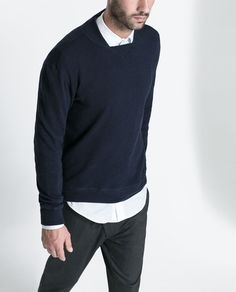 Image 1 of BASEBALL COLLAR SWEATSHIRT from Zara