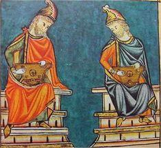 SALTERIO (Cantiga 50) El salterio es un instrumento formado por una caja de resonancia plana, sobre la que se extienden en paralelo a ella las cuerdas. Es un instrumento plenamente medieval, asociado a la Biblia, como instrumento acompañante de los salmos.