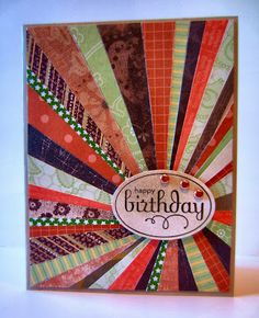What a pretty card - love the papers she used! Paper Seedlings: FALL FLAVORS