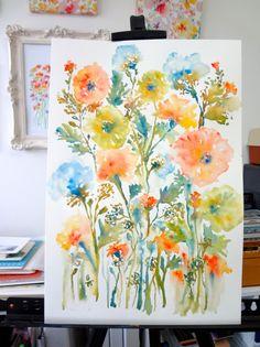 From the Garden No.6 Original Watercolor by pineapplebaystudio, $120.00