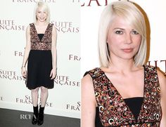 Michelle Williams In Louis Vuitton – 'Suite Française' Paris Premiere