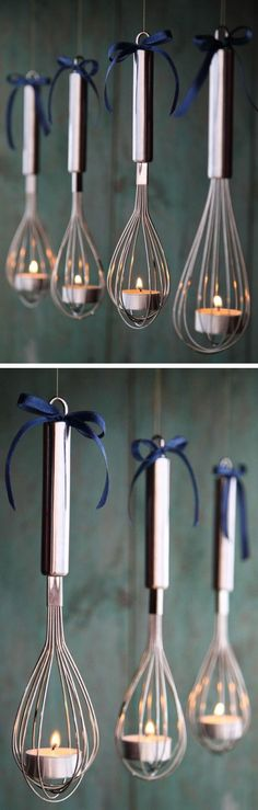 DIY Tea Candle Whisk Latern #neat