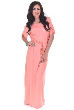 If I Was Your Boyfriend Maxi - Peach from Closet Candy Boutique