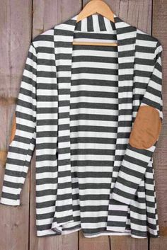 Cupshe Stay With Me Stripe Printing Cardigan