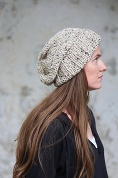 WISDOM Slouchy Hat Knitting Pattern Woman's Knit by bromefields Crochet Yarn, Knitting Yarn, Hand Crochet, Knit Purl Stitches, Lion Brand Wool Ease, Slouchy Hat, Beanie, Super Bulky Yarn, Quick Knits