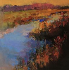 Carolina Marsh by Ann Watcher Oil ~ 40 x 40