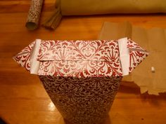 homey home design: How to make gift bags out of wrapping paper