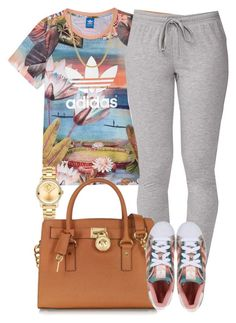 """Adidas x Adidas"" by livelifefreelyy ❤ liked on Polyvore featuring adidas, Forever 21, Michael Kors, Movado, adidas Originals and Giani Bernini"