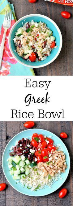 Easy Greek Rice Bowl