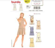 Burda 8072 dress pattern
