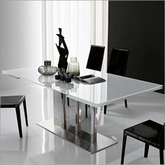 cattelan italia plano 2000 glass table, steel by p. cattelan