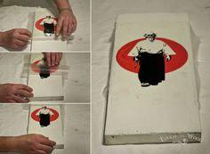 PVA Glue Print Transfer (Mod Podge Substitute) - Removing the film