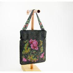 Antique Edwardian Beaded Purse ($140) via Polyvore featuring bags, handbags, white handbags, long strap handbags, long strap purse, beaded handbag and man bag