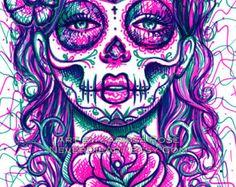 woman sugar skull - Google Search