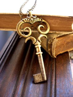 Vintage Key Necklace Key to the Armoire Ornate by UrbanHeirlooms
