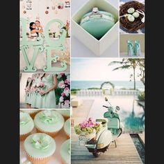 Una boda irresistible en color menta #Wedding #Bodas #BrideToBe #LunaDeMiel #Honeymoon #Invitaciones #Trendy #Accesorios #Decoración #Colores #Menta
