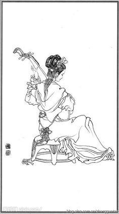 白描 神仙 神女