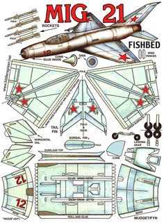 (Fishbed) Russische Supersonic Jet Fighter (altes Modell) Source by Paper Car, Paper Plane, 3d Paper, Paper Toys, Origami Paper, Easy Origami, Paper Airplane Models, Model Airplanes, Paper Aircraft