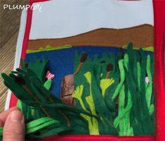 Quietbook - Mose im Körbchen Montessori, Cute Things, Kids Bible, Book