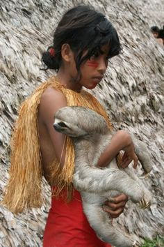 child with sloth