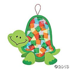 Colorful Turtle Tissue Paper Craft (this is a kit but of course I would just be a copy-cat)