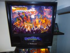 MONSTER BASH PINBALL MACHINE 1998 Williams NEW PLAYFIELD INSTALLED AWESOME L@@@K