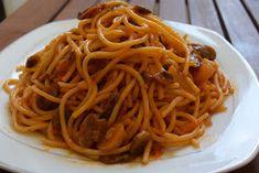 ΜΑΓΕΙΡΙΚΗ ΚΑΙ ΣΥΝΤΑΓΕΣ: Μακαρόνια με κόκκινη σάλτσα & μανιτάρια !! Ethnic Recipes, Food, Essen, Meals, Yemek, Eten