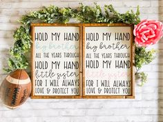 Excited to share this item from my shop: Hold my hand big brother - hold my hand little sister - sibling sign - nursery sign - brother sister sign - big brother - little sister Little Sister Quotes, Big Brother Little Sister, Big Brother Quotes, Little Sisters, Sibling Bedroom, Sister Bedroom, Boy And Girl Shared Bedroom, Displaying Kids Artwork, Nursery Signs