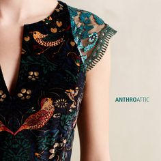 ANTHROPOLOGIE Larksong Corduroy Dress • size 4 • ANTHRO by Eva Franco Birds NWT #ANTHROPOLOGIEbyEvaFranco #Cocktail