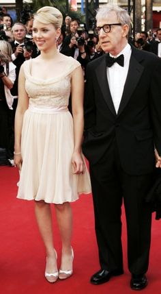 Woody with Scarlett Johansson at the Cannes Film Festival in 2005. Via VanityFair.com