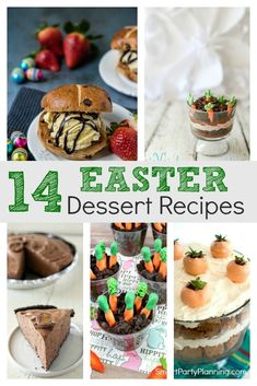 A mouthwatering selection of easy Easter dessert recipes. Families will love indulging on these desserts, which not only look great, but taste amazing. They are fun, simple and the kids will love them. This is the best way to end an Easter meal. Desserts Ostern, Köstliche Desserts, Delicious Desserts, Dessert Recipes, Easy Easter Desserts, Easter Treats, Easter Recipes, Easter Food, Easter Party