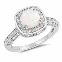 Fine Jewelry Fine Jewelry Sets Able Usa Seller 3pcs Round Set Sterling Silver 925 Best Price Jewelry White Lab Opal
